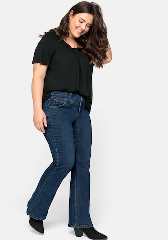 Sheego Bootcut-Jeans, in 5-Pocket-Form, mit Kontrastnähten kaufen