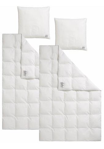 RIBECO Bettdecke + Kopfkissen »Marie«, (Spar-Set), Mit einer hochbauschigen Füllung... kaufen
