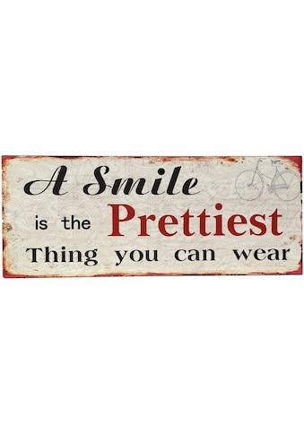 Ambiente Haus Metallschild »Smile Bild 50cm«, (1 St.) kaufen