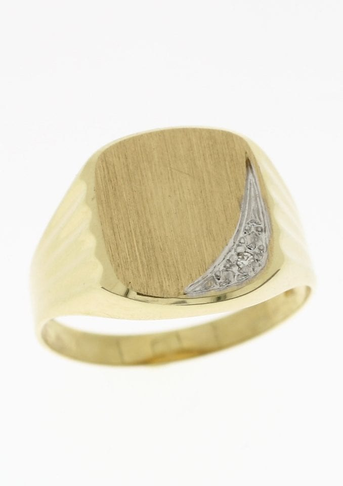 Firetti Siegelring »matt in Bicolor-Optik« | Schmuck > Ringe > Siegelringe | Firetti