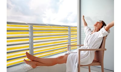 FLORACORD Balkonsichtschutz BxH: 500x90 cm, gelb/weiß kaufen