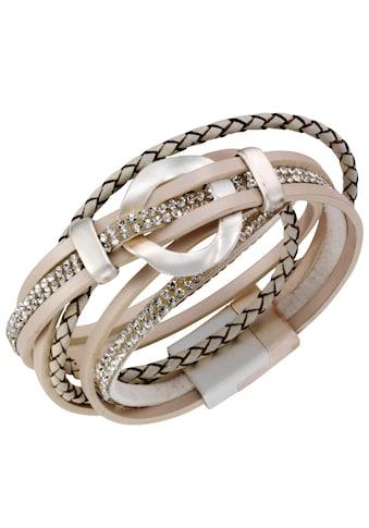 J.Jayz Wickelarmband »stylisch, teilweise geflochten« kaufen