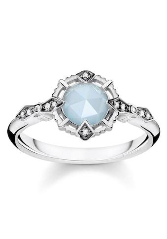 """THOMAS SABO Diamantring »Ring """"Vintage hellblau"""", D_TR0043-902-31-48, 50, 52, 54, 56, 58, 60«, mit Diamanten und Aquamarin kaufen"""