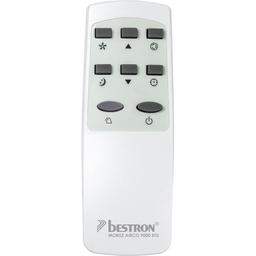 bestron Klimagerät »AAC9000«, Kühlleistung 2,6 kW mit umweltfreundlichem Kühlmittel, 9.000BTU/h, Farbe: weiß