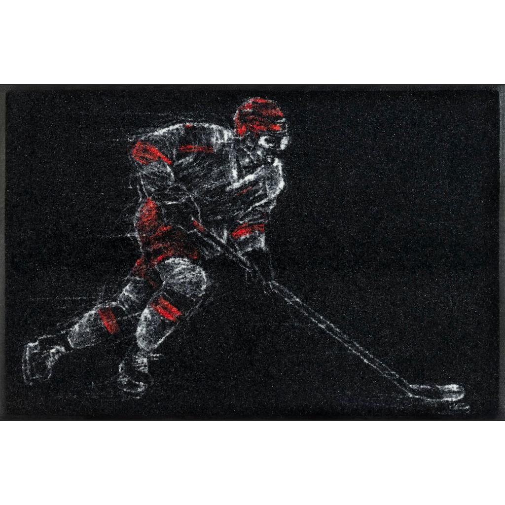wash+dry by Kleen-Tex Fußmatte »Icehockey«, rechteckig, 7 mm Höhe, Schmutzfangmatte, In- und Outdoor geeignet, waschbar