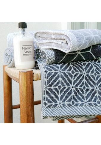 framsohn frottier Handtücher »Design Rauten«, (2 St.), mit mehrfarbig gewebtem Saum kaufen