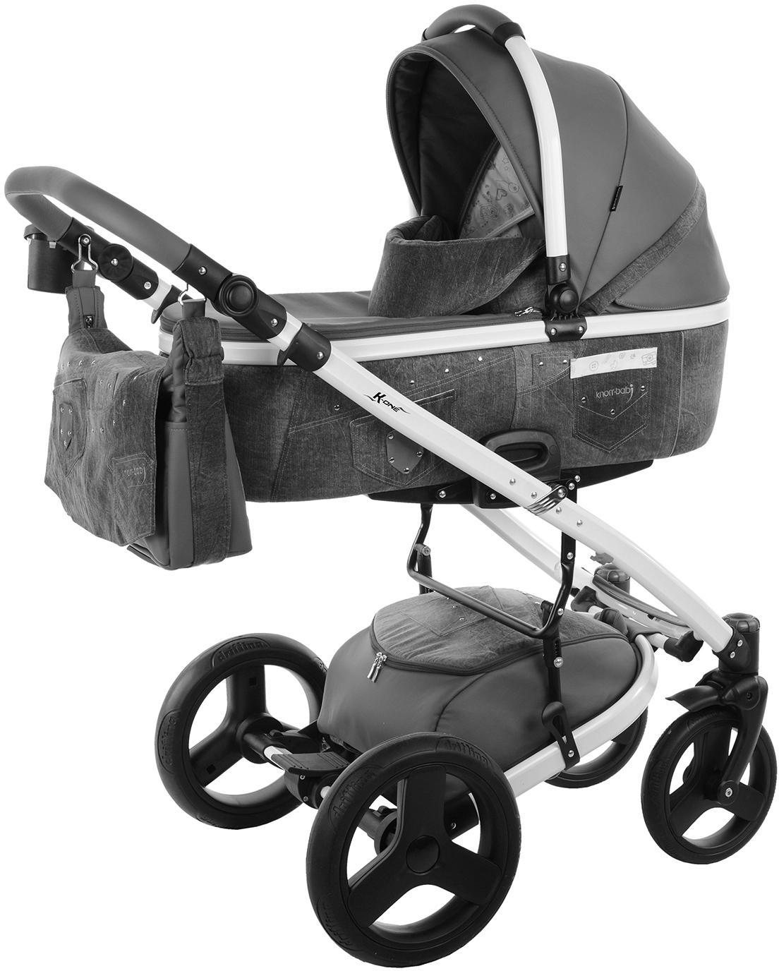 knorr-baby Kombi-Kinderwagen Set, »K-One Jeans, grey jeans« | Bekleidung > Jeans > Sonstige Jeans | Mehrfarbig | Ab | KNORR-BABY