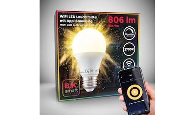 B.K.Licht LED-Leuchtmittel, E27, 1 St., Warmweiß, Smart Home LED-Lampe RGB WiFi App-Steuerung dimmbar Glühbirne 9W 806 Lumen kaufen