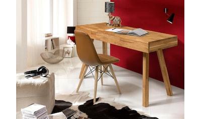 Home affaire Schreibtisch »Modern«, aus schönem massivem Eichenholz, 3 Schubladen,... kaufen