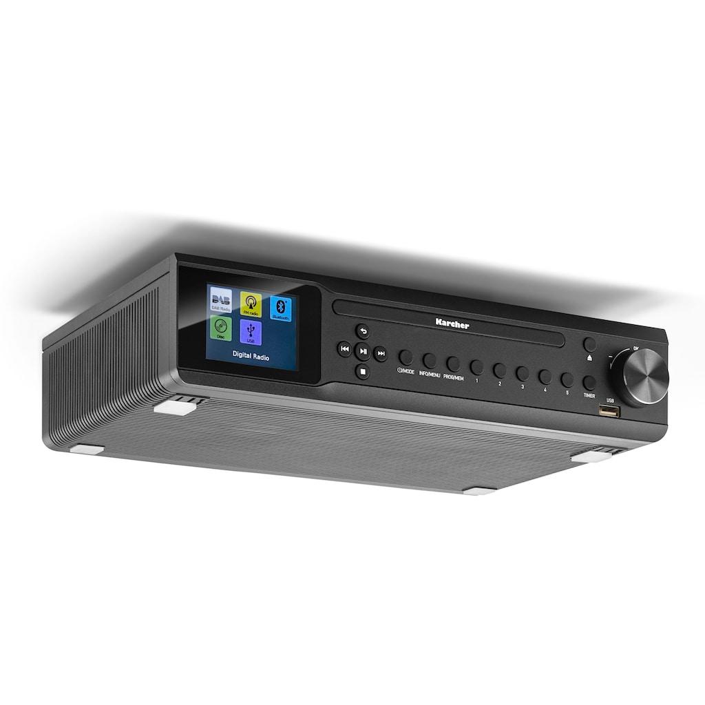 Karcher Küchen-Radio »RA 2060D-B«, (Bluetooth Digitalradio (DAB+)-UKW mit RDS 6 W), (CD-Player, DAB+ Radio, Bluetooth)