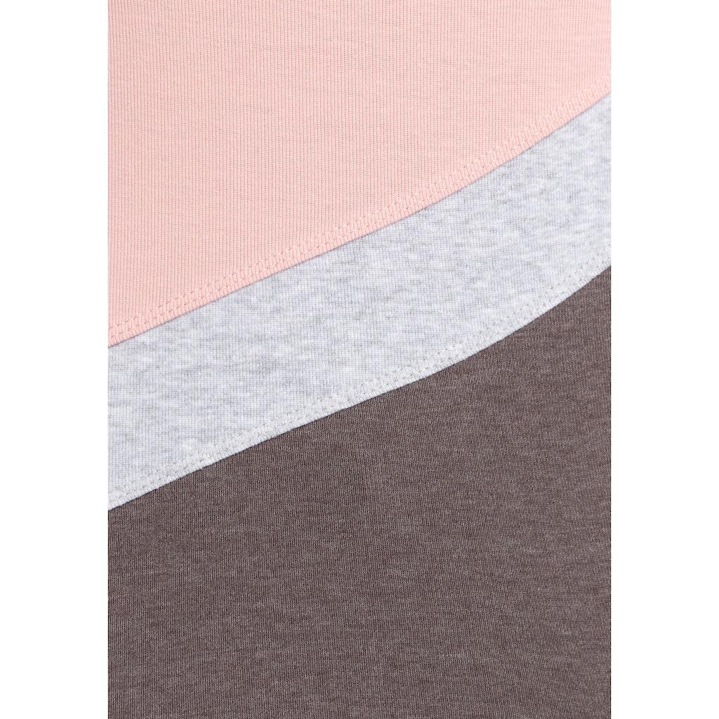 KangaROOS Longsleeve, mit Color Blocking Details vorne