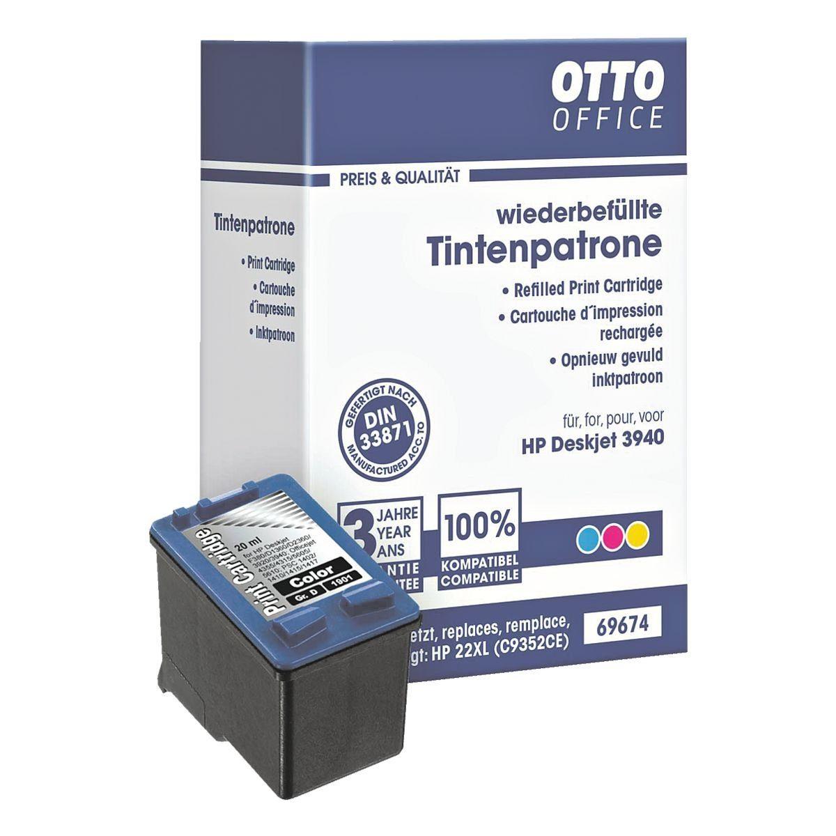 OTTOOFFICE STANDARD Tintenpatrone ersetzt HP »C9352AE« Nr. 22