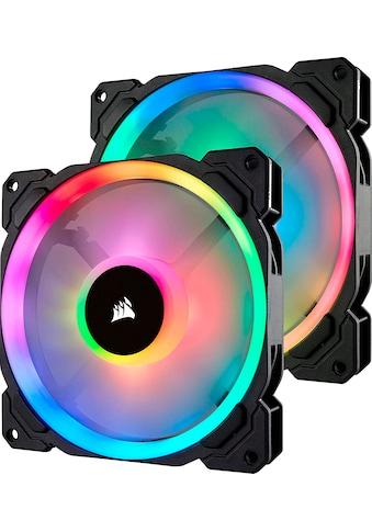 Corsair Computer-Kühler »Corsair LL140 RGB LED PWM PC-Gehäuselüfter (140mm Dual Licht Loop RGB LED, Zweierpack mit Lighting Node PRO) schwarz« kaufen