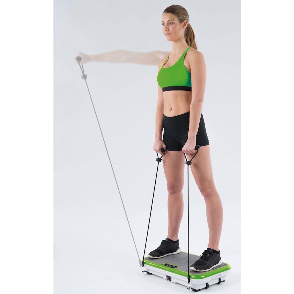 VibroShaper™ Vibrationsplatte, 200 W, 3 Intensitätsstufen, (Set, mit Trainingsbändern)