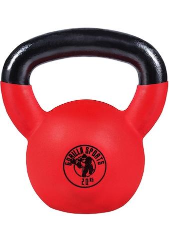 GORILLA SPORTS Kettlebell »Kettlebell Guss mit Gummibeschichtung 20 kg«, 20 kg kaufen
