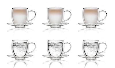 Creano Gläser-Set, (Set, 6 tlg., 6 Tassen, 6 Untertassen), 250 ml, 6-teilig kaufen