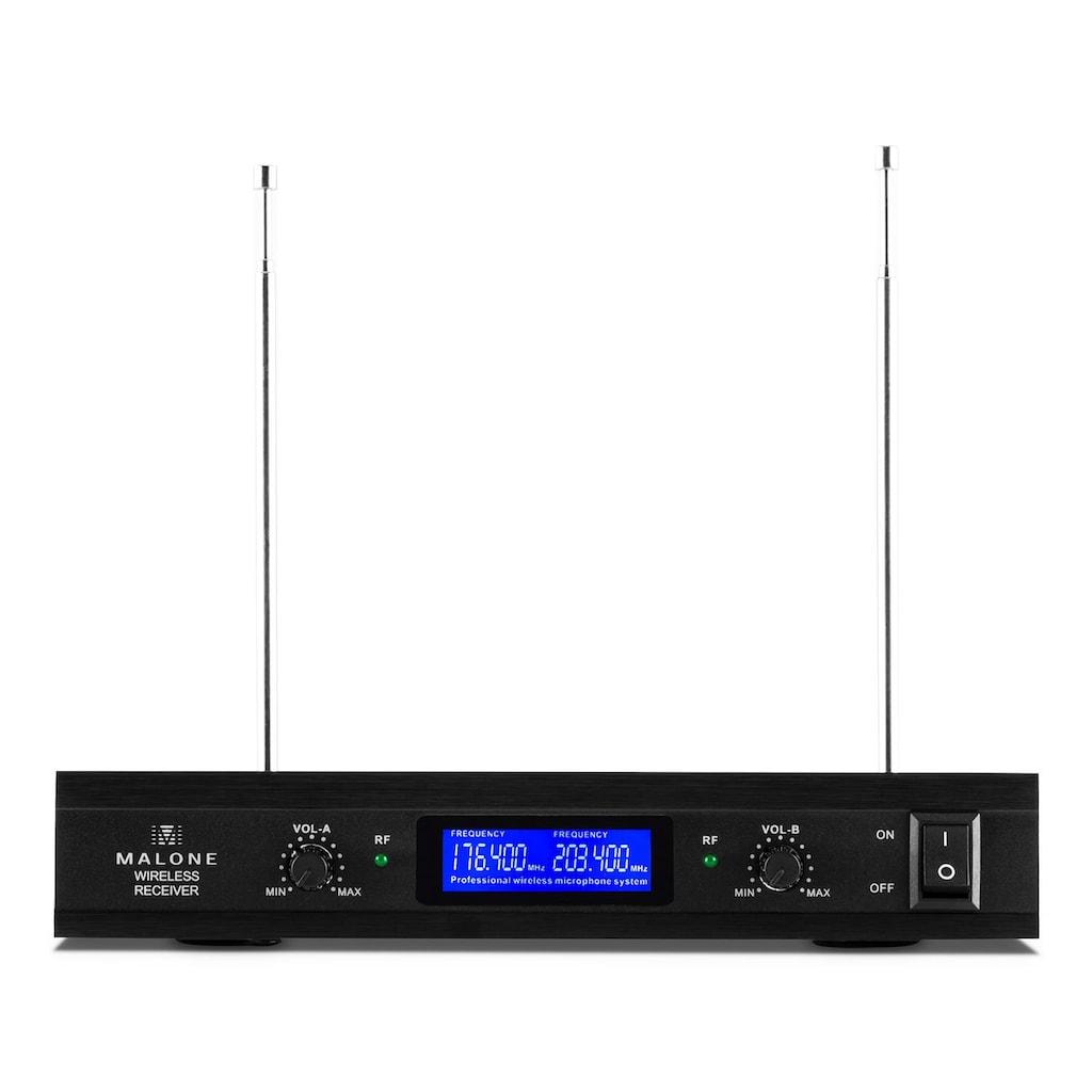 Malone 2-Kanal VHF-Funkmikrofon-Set 1x Empfänger + »VHF-400 DUO 2«