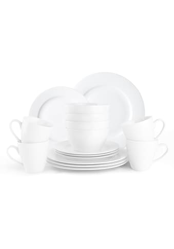 """JACKIES BAY Frühstücks - Set """"Jackies Bay White"""" (16 - tlg.), Porzellan kaufen"""