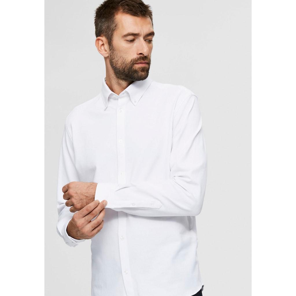 SELECTED HOMME Langarmhemd »OLIVER-KNIT FLEX SHIR«
