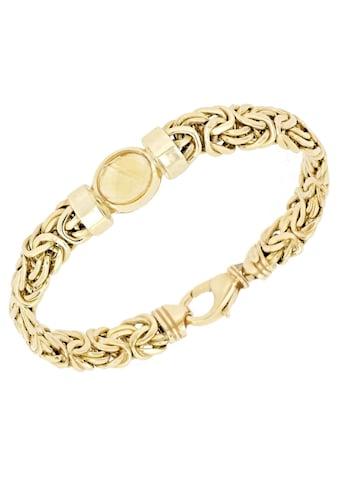 Firetti Goldarmband »Königskettengliederung, glänzend, flach, beidseitig bombiert, facettiert in der Mitte« kaufen