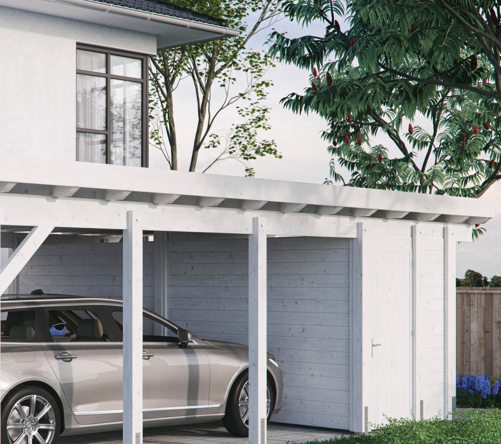 Kiehn-Holz Geräteraum BxT: 585x174 cm, nur für Carport KH 330/311, versch.Farben   Baumarkt > Garagen und Carports > Carports   Kiehn-Holz