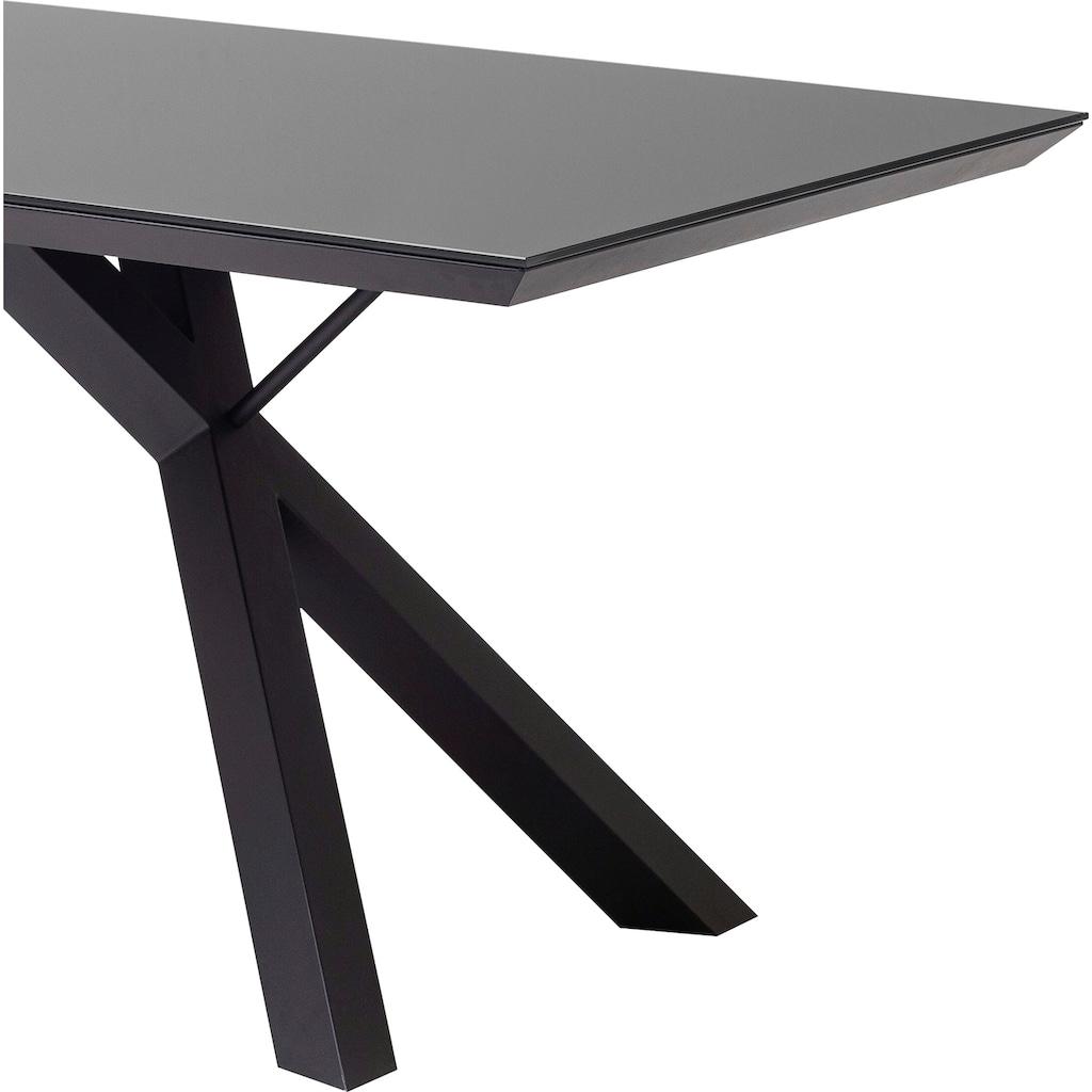 MCA furniture Esstisch »Everett«, mit Glasplatte
