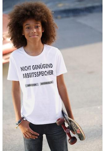 Arizona T - Shirt »Nicht genügend Arbeitsspeicher« kaufen