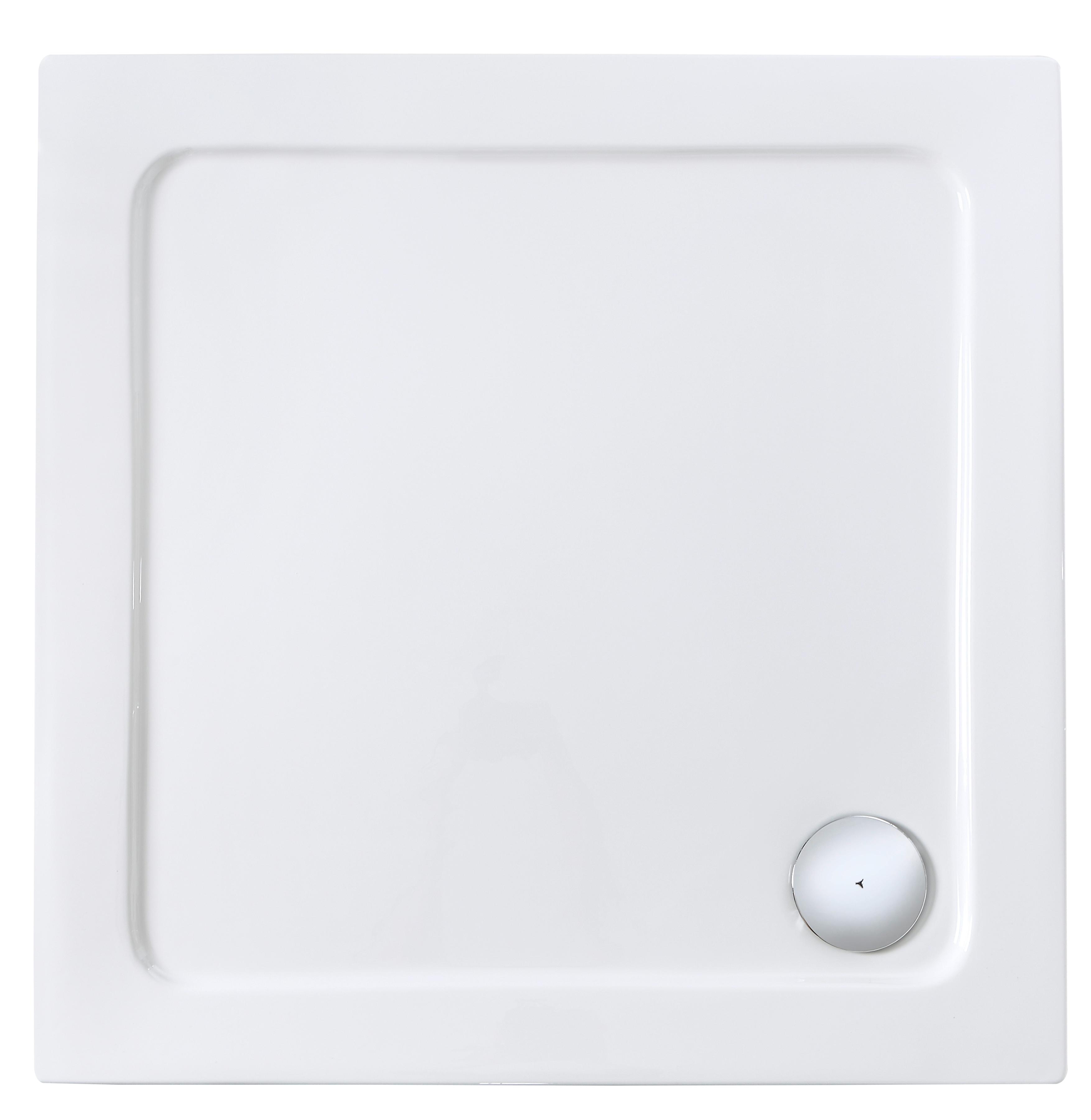 Eckduschwanne, Duschwanne 90 x 90 cm | Bad > Duschen > Duschwannen | Weiß | QUELLE