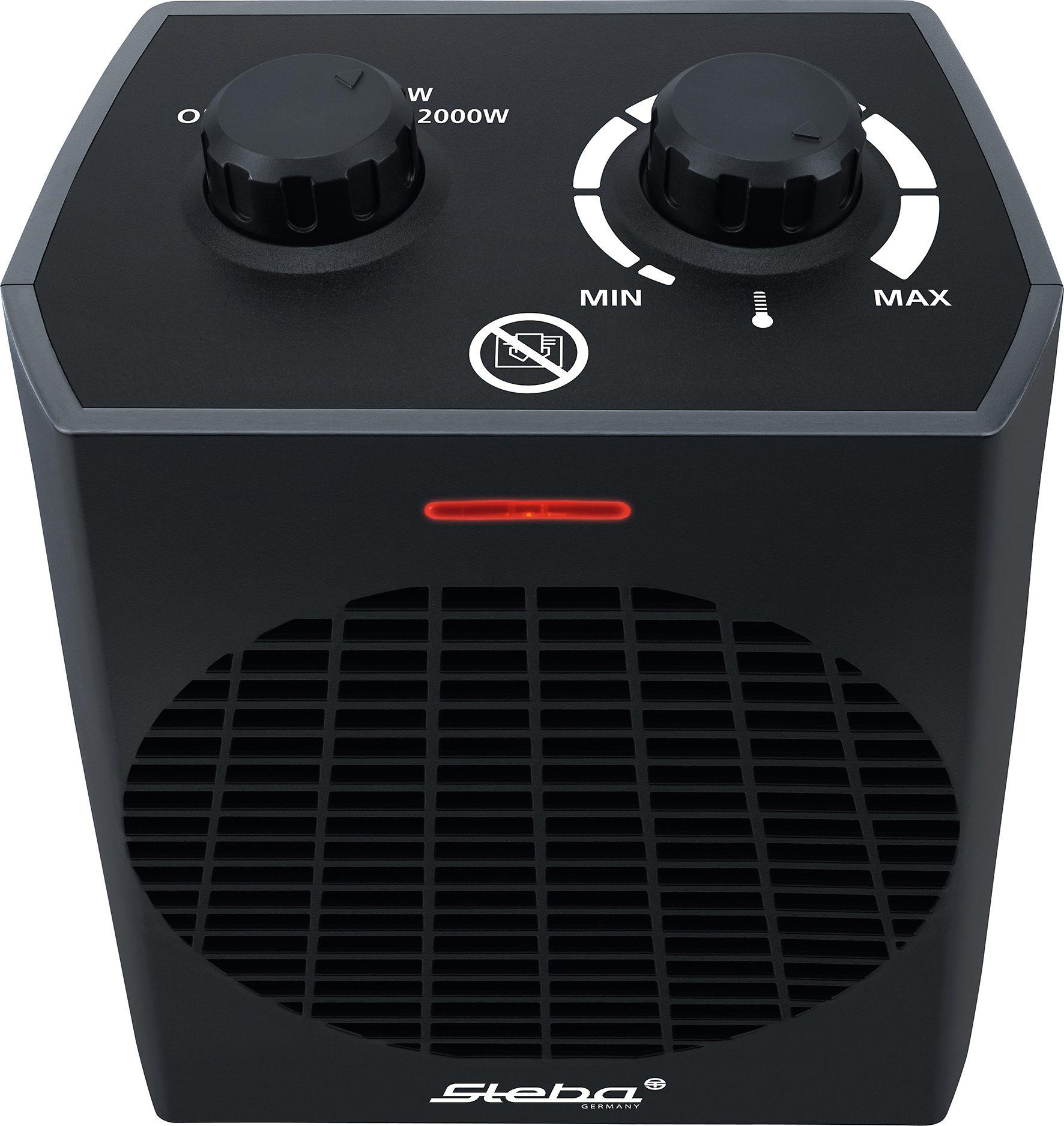 Steba Heizlüfter FH 504, 2000 Watt | Baumarkt > Heizung und Klima > Heizgeräte | Schwarz | STEBA