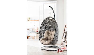 Destiny Hängestuhl »Cocoon«, Polyrattan, beige, inkl. Sitz- und Rückenkissen kaufen