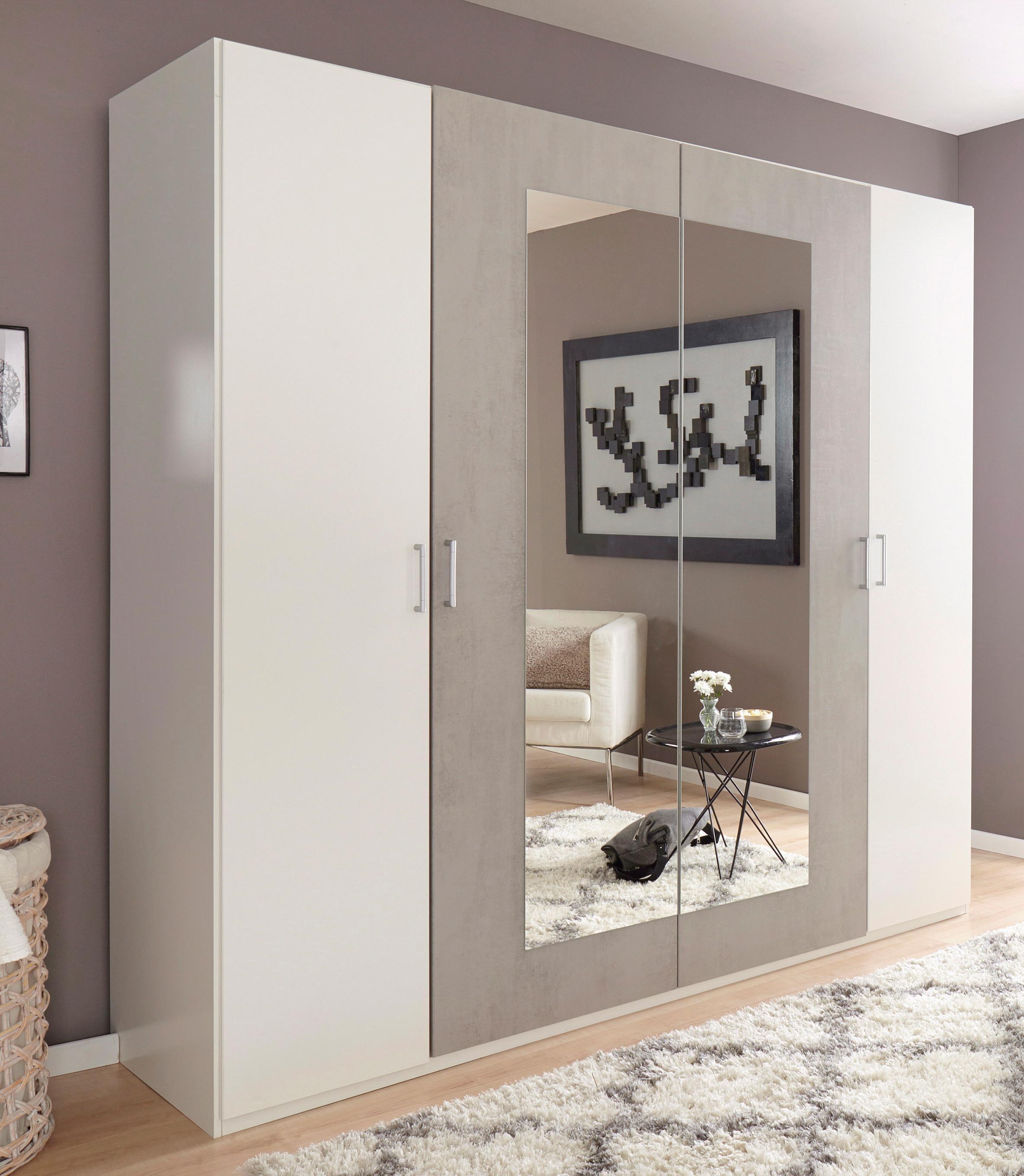 wimex kleiderschrank angie mit spiegelt ren auf. Black Bedroom Furniture Sets. Home Design Ideas