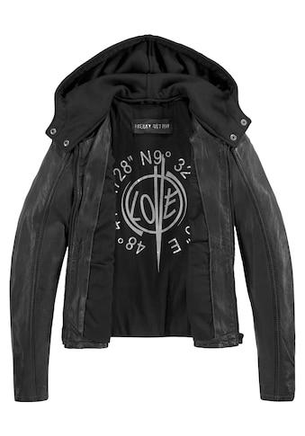 Freaky Nation Lederjacke »Cool Beauty-FN«, mit abnehmbarer Jersey-Kapuze kaufen