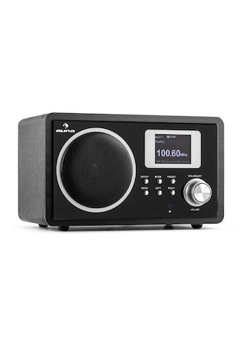 Auna Internetradio UKW DLNA WLAN AUX Fernbedienung Wecker Holzgehäuse »IR 150« kaufen