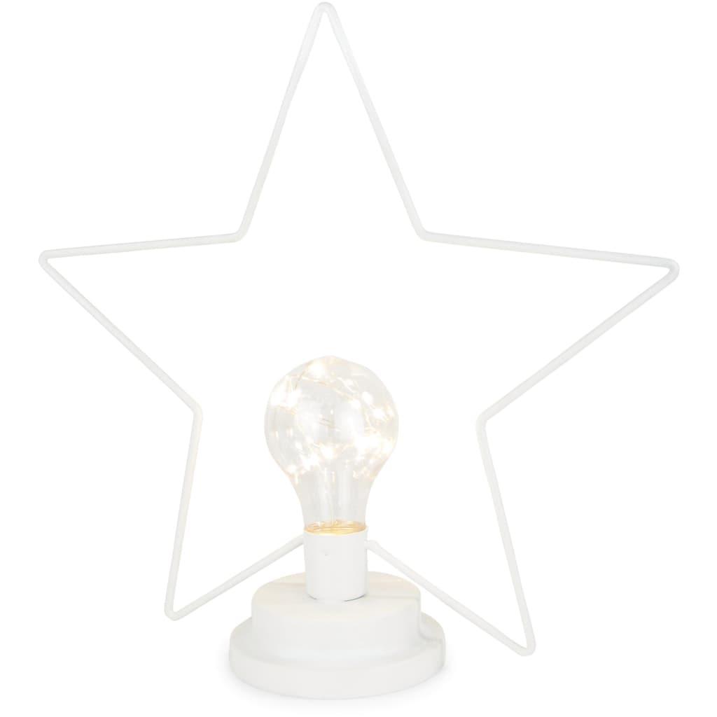 LED Stern, Warmweiß, Drahtstern mit LED-Glühlampe