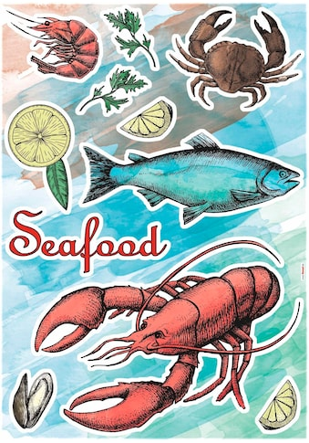 KOMAR Wandtattoo »Seafood« kaufen