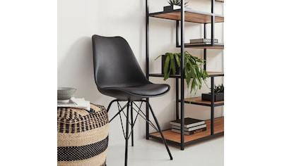 Homexperts Schalenstuhl »Ursel 01«, (2 Stück), Sitzschale mit Sitzkissen in Kunstleder kaufen