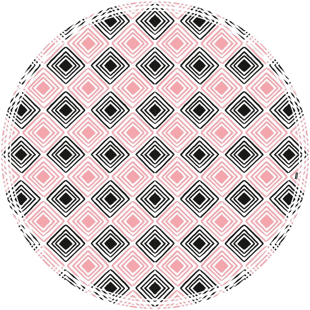 MySpotti Vinylteppich »Buddy Nelly«, rund, 0,03 mm Höhe, rund, wasserfest und statisch haftend