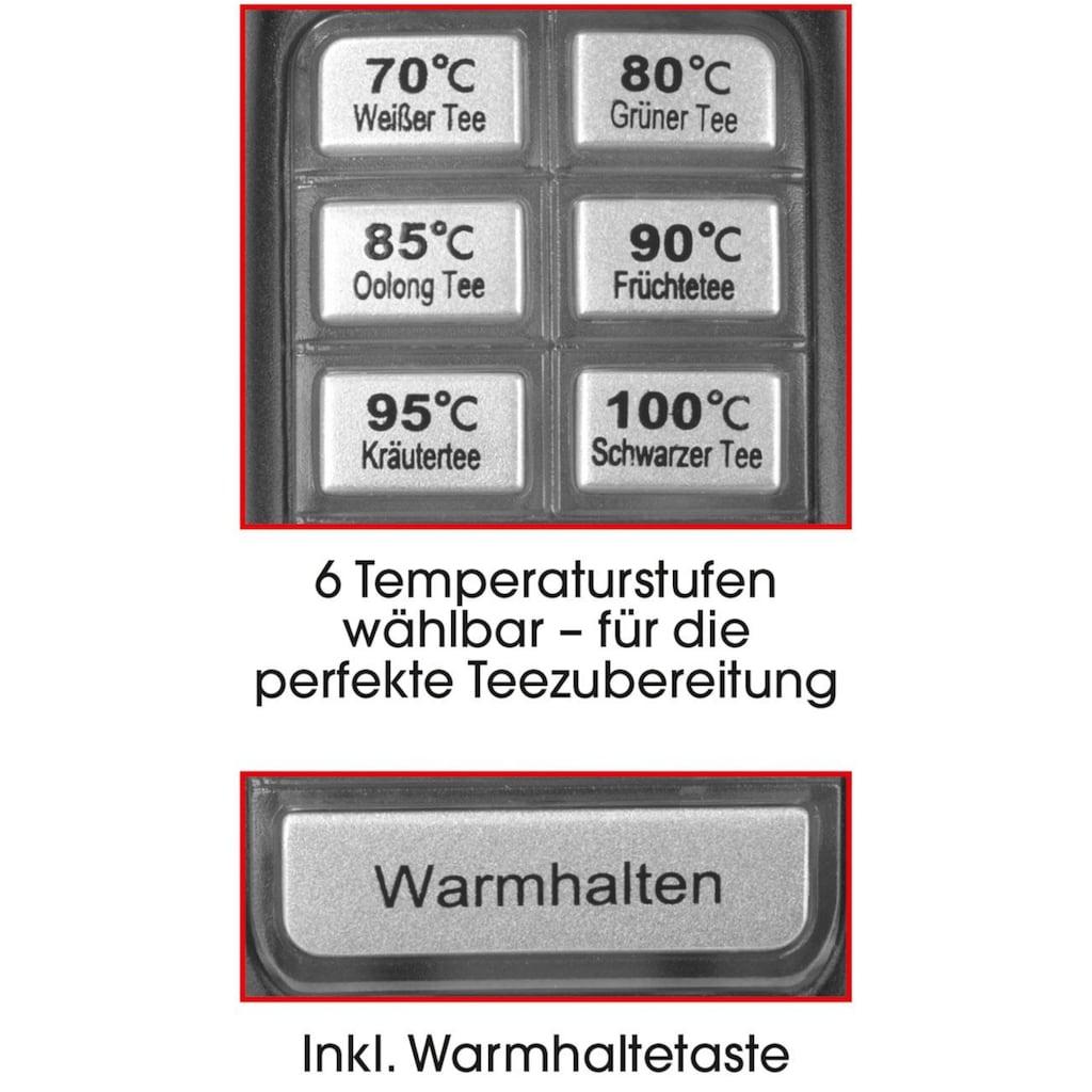 GOURMETmaxx Wasserkocher »Glas LED/Temperaturwahl«, 1,7 l, 2000 W