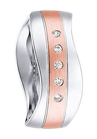 Firetti Trauring mit Gravur »glanz, längs gebürstet, Diamantschnitt, Wellenform, 7,0 mm breit«, wahlweise mit oder ohne Zirkonia kaufen