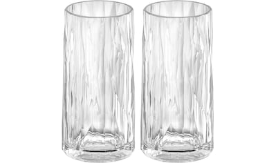 KOZIOL Longdrinkglas »CLUB No. 8«, (Set, 2 tlg., 2er Set), tolles Facettendesign,... kaufen