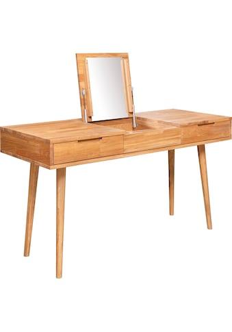 andas Schminktisch »Scandi«, aus massivem Eichenholz, mit aufklappbarem Spiegel,... kaufen