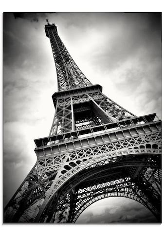 Artland Glasbild »Eiffelturm Paris«, Gebäude, (1 St.) kaufen