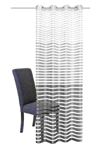 HOME WOHNIDEEN Vorhang »STEFANO«, HxB: 245x140, Ösenschal Querstreifen kaufen