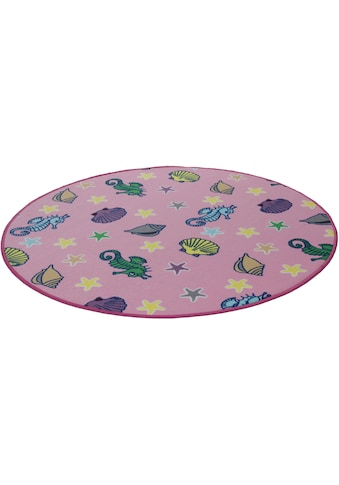 Kinderteppich, »Meereswelt Muschel«, Living Line, rund, Höhe 7 mm, maschinell gewebt kaufen