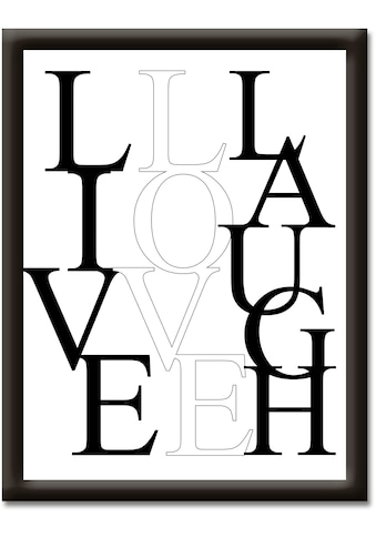 Artland Wandbild »Leben, Lieben, Lachen« kaufen