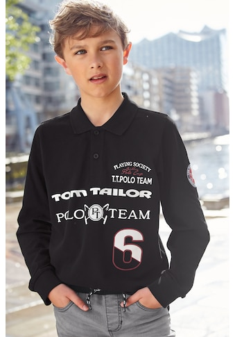 TOM TAILOR Polo Team Langarm-Poloshirt »P.S.« kaufen