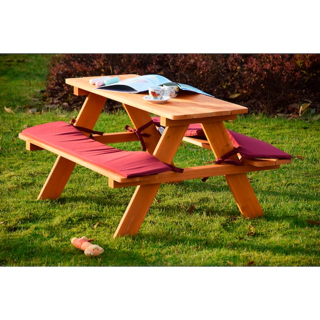 DOBAR Kinderpicknicktisch , B/L/H: 79/89/50 cm, für 4 Kinder