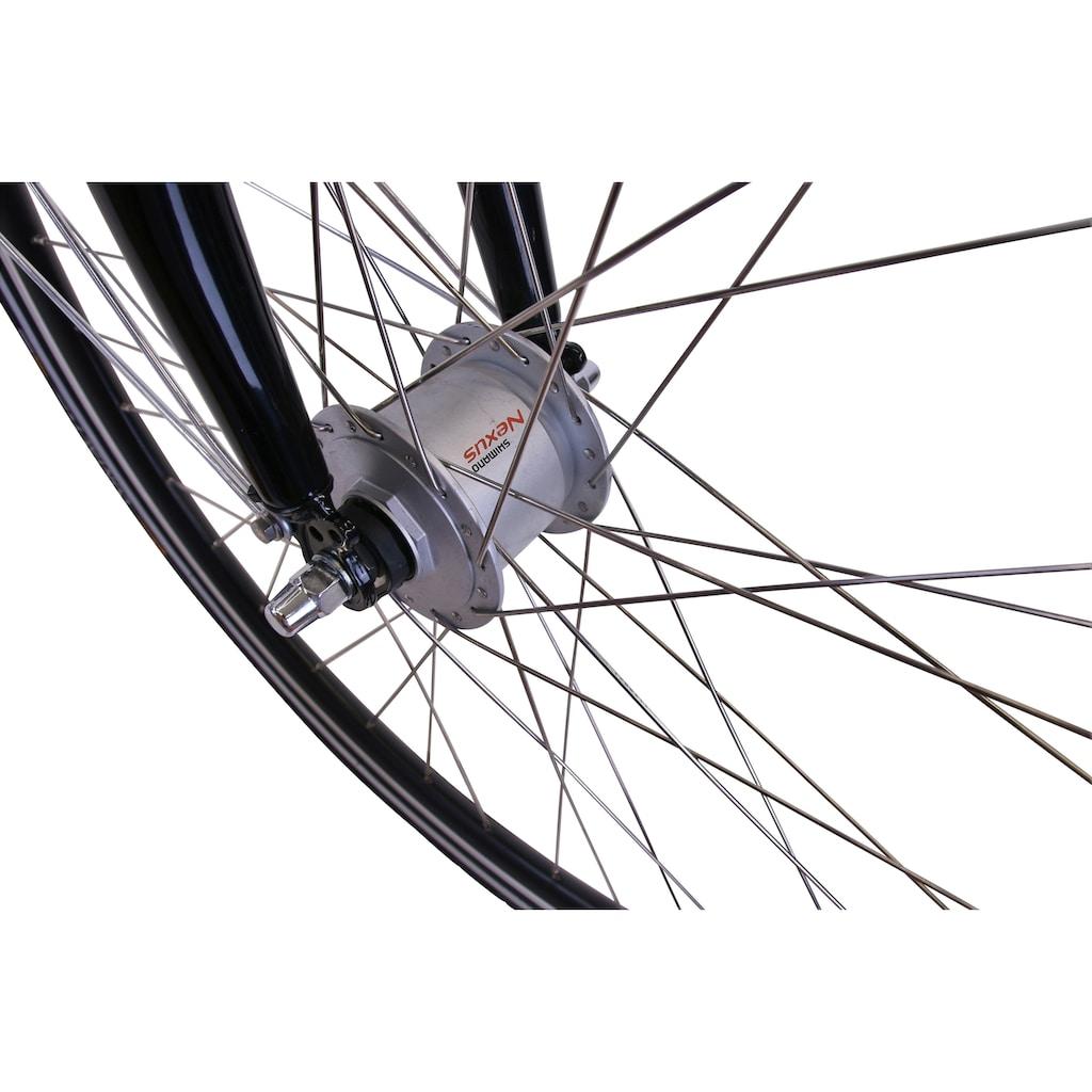 HAWK Bikes Cityrad »HAWK City Wave Deluxe White«, 7 Gang, Shimano, Nexus Schaltwerk