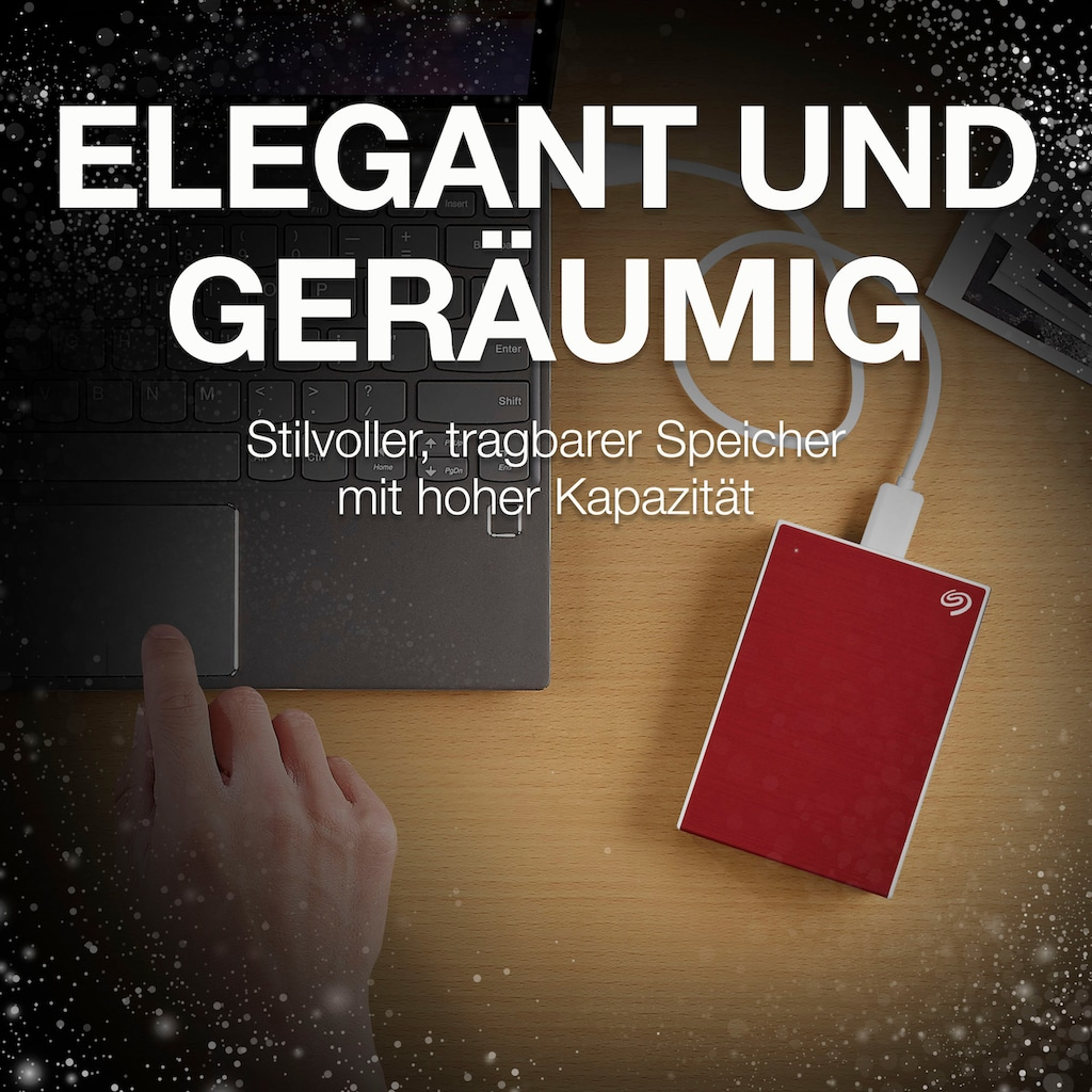 """Seagate externe HDD-Festplatte »One Touch Portable Drive 5TB - Red«, 2,5 """", Inklusive 2 Jahre Rescue Data Recovery Services"""
