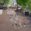 Paco Home Läufer »Artigo 433«, rechteckig, 11 mm Höhe, Kurzflor, Rauten Design, In- und Outdoor geeignet